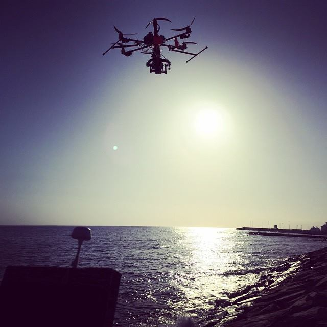 Filming for Zoolander 2 in the Port of Civitavecchia with a remote-controlled drone
