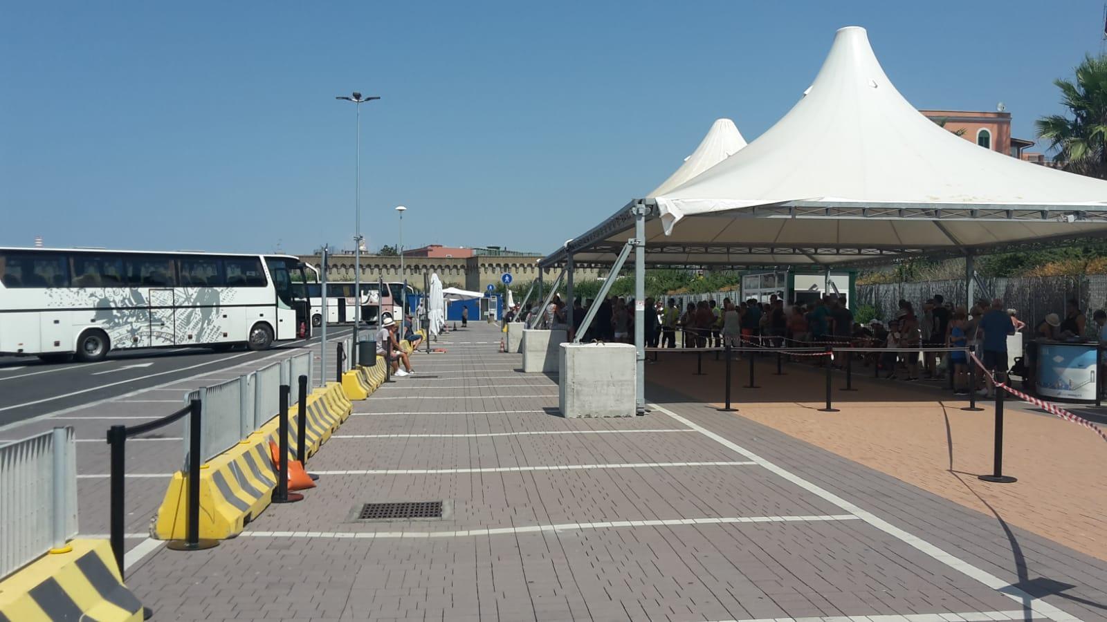 Inside and outside largo della pace port mobility - Port of civitavecchia cruise terminal ...