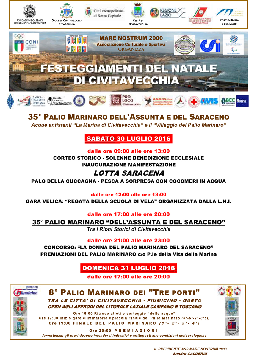 Poster of the 35th Nautical Palio of the Saracen