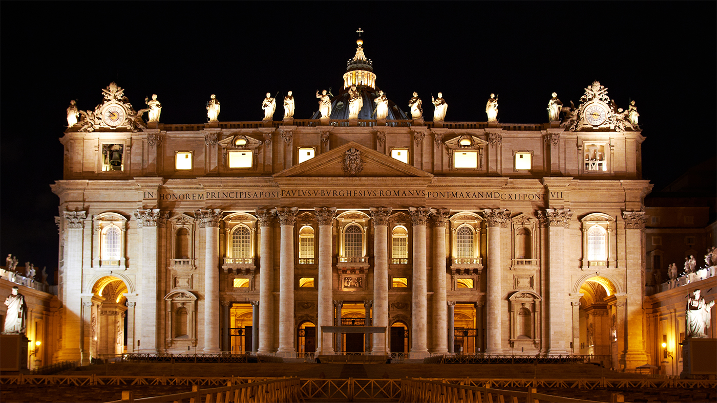 Front façade of the Basilica of St. Peter