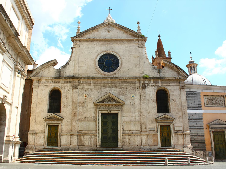 Church Floor Plan The Basilica Of Santa Maria Del Popolo In Rome Port
