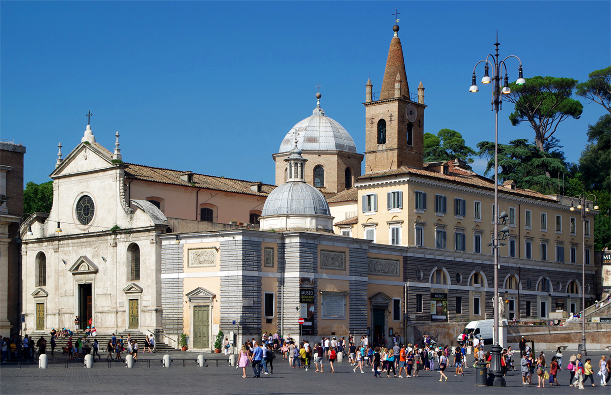 The Basilica of Santa Maria del Popolo in Rome