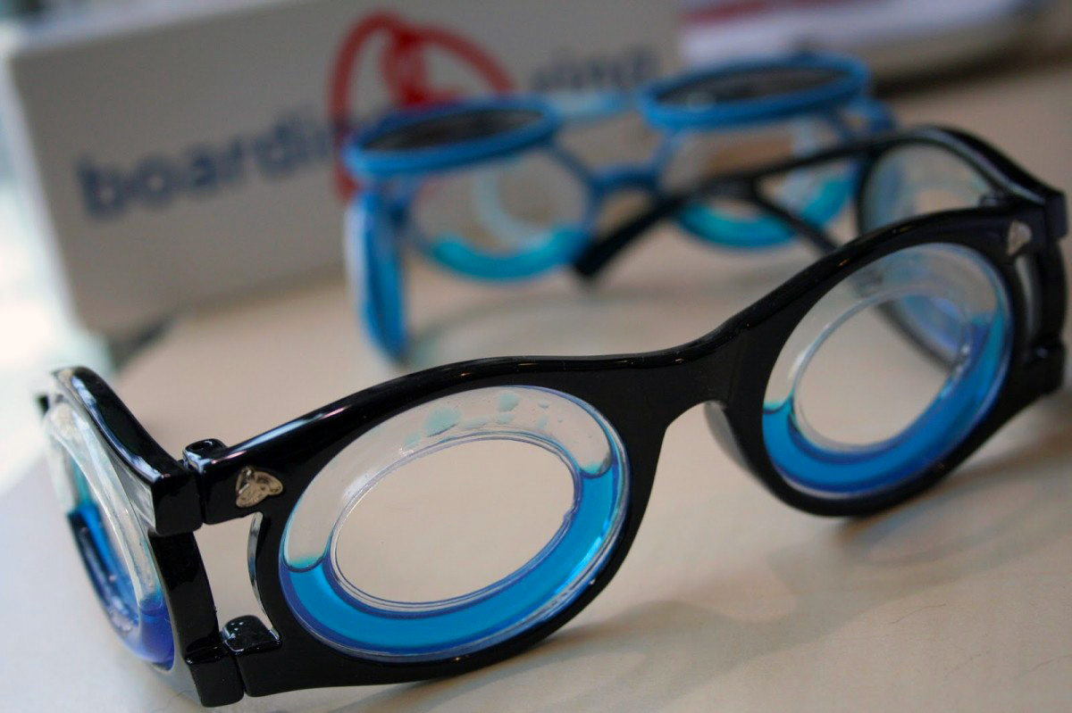 Special glasses Boarding Ring are the latest idea against sea sickness