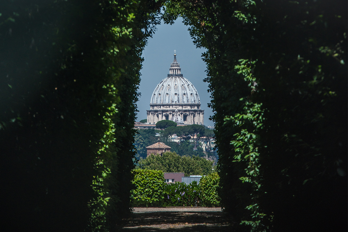 The view of the Dome through the Key Hole
