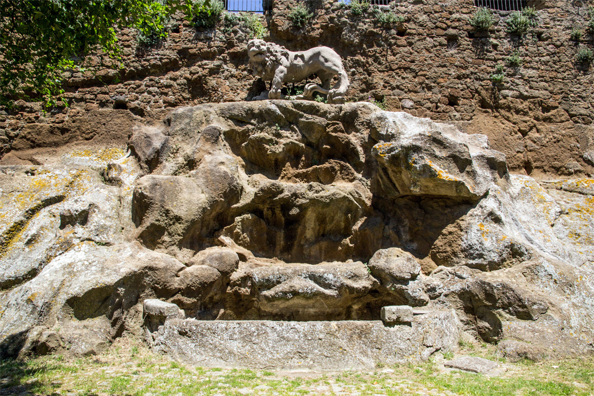 Monterano - Bernini's Lion on the Ducal Palace