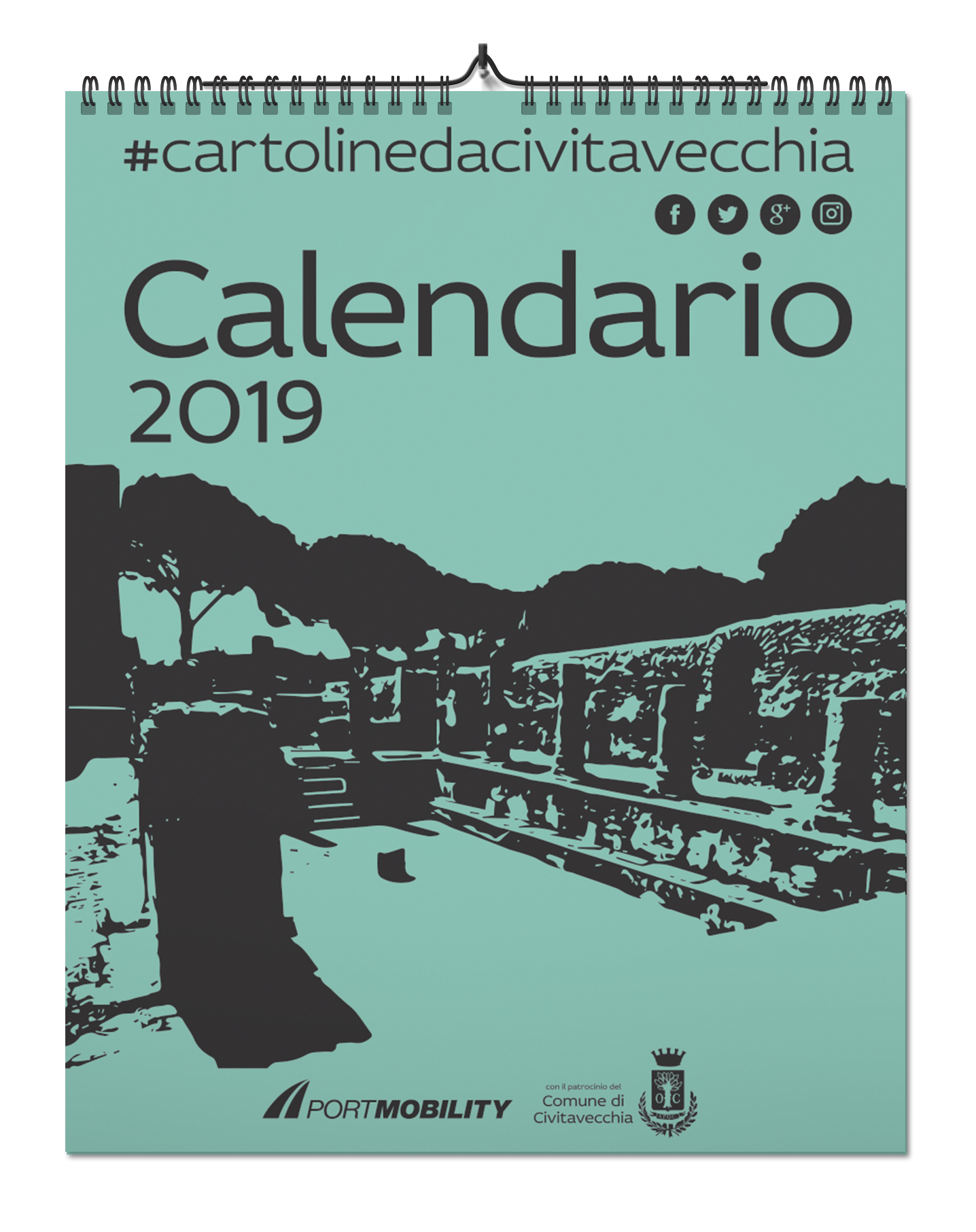 Postcards from Civitavecchia 2019:Cover of the Calendar