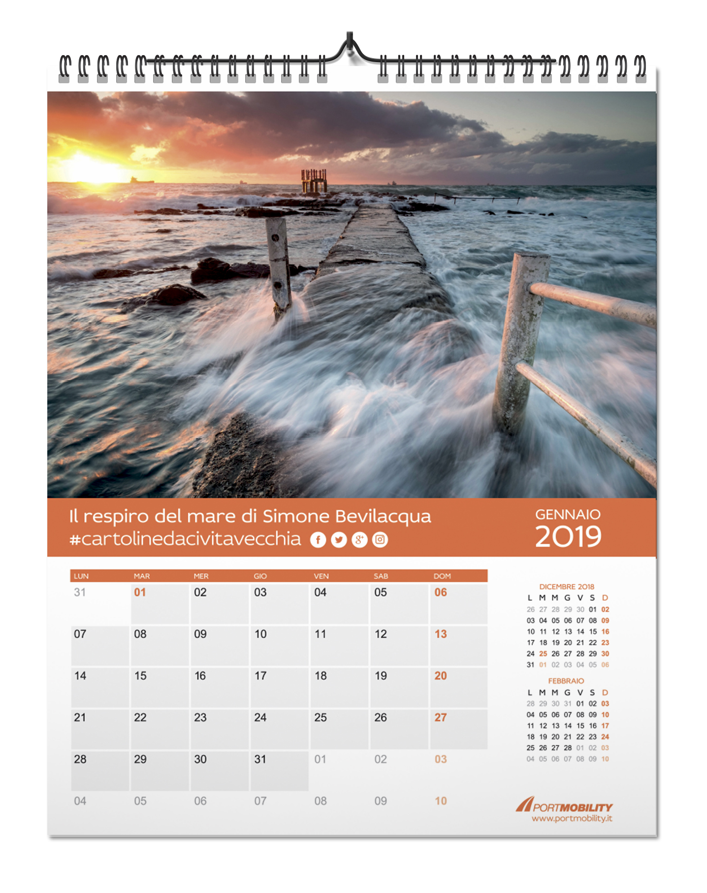 Postcards from Civitavecchia 2019: month of January