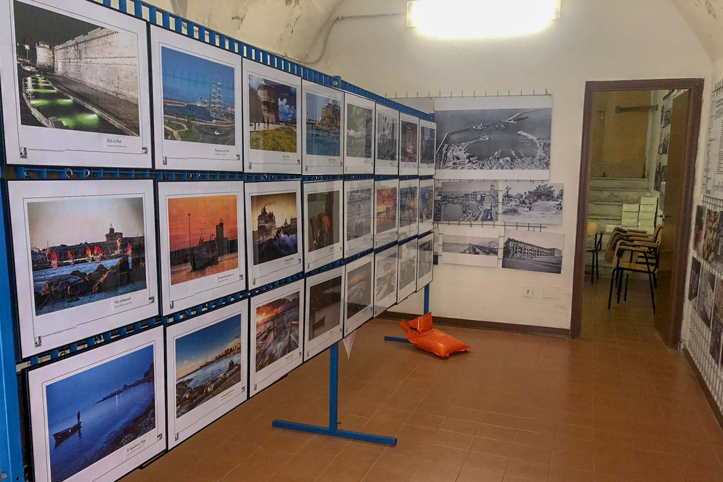 Some photographies of Postcards from Civitavecchia displayed at Casa della Memoria di Civitavecchia
