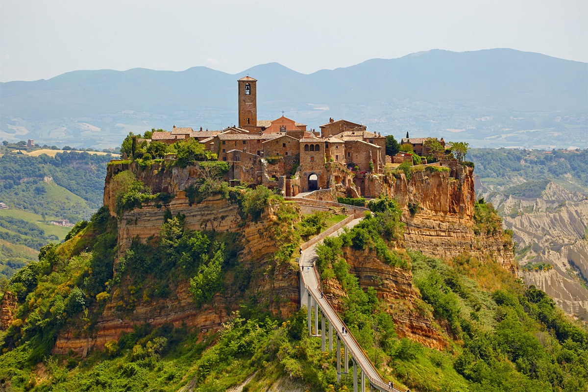 stunning views of civita di bagnoregio