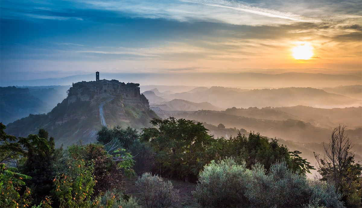 in civita di bagnoregio you will seem to be in a set of a fantasy movie