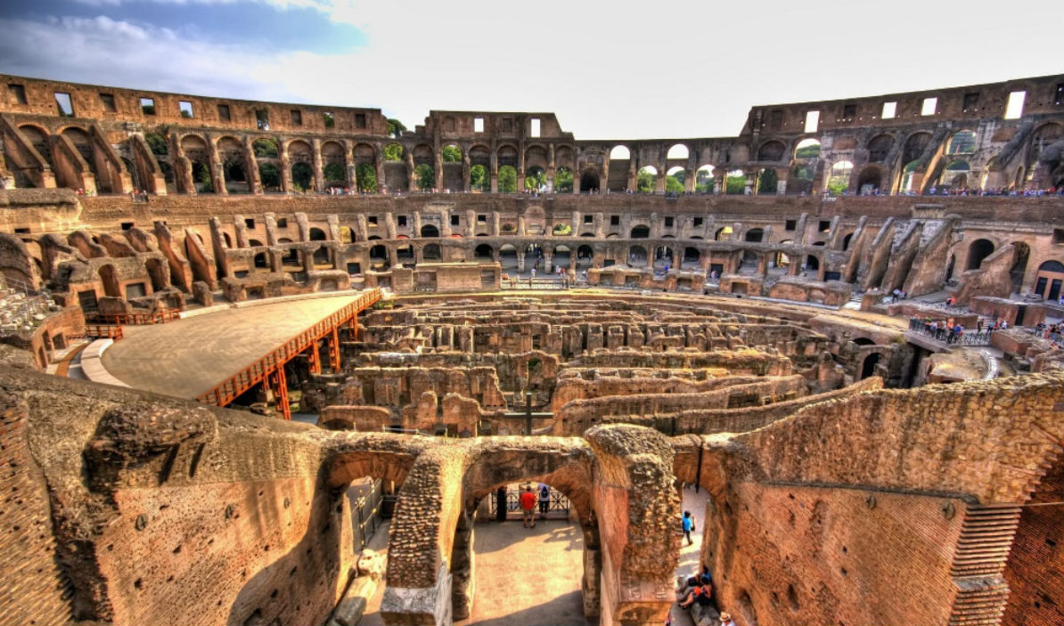The Colosseum, from the inside