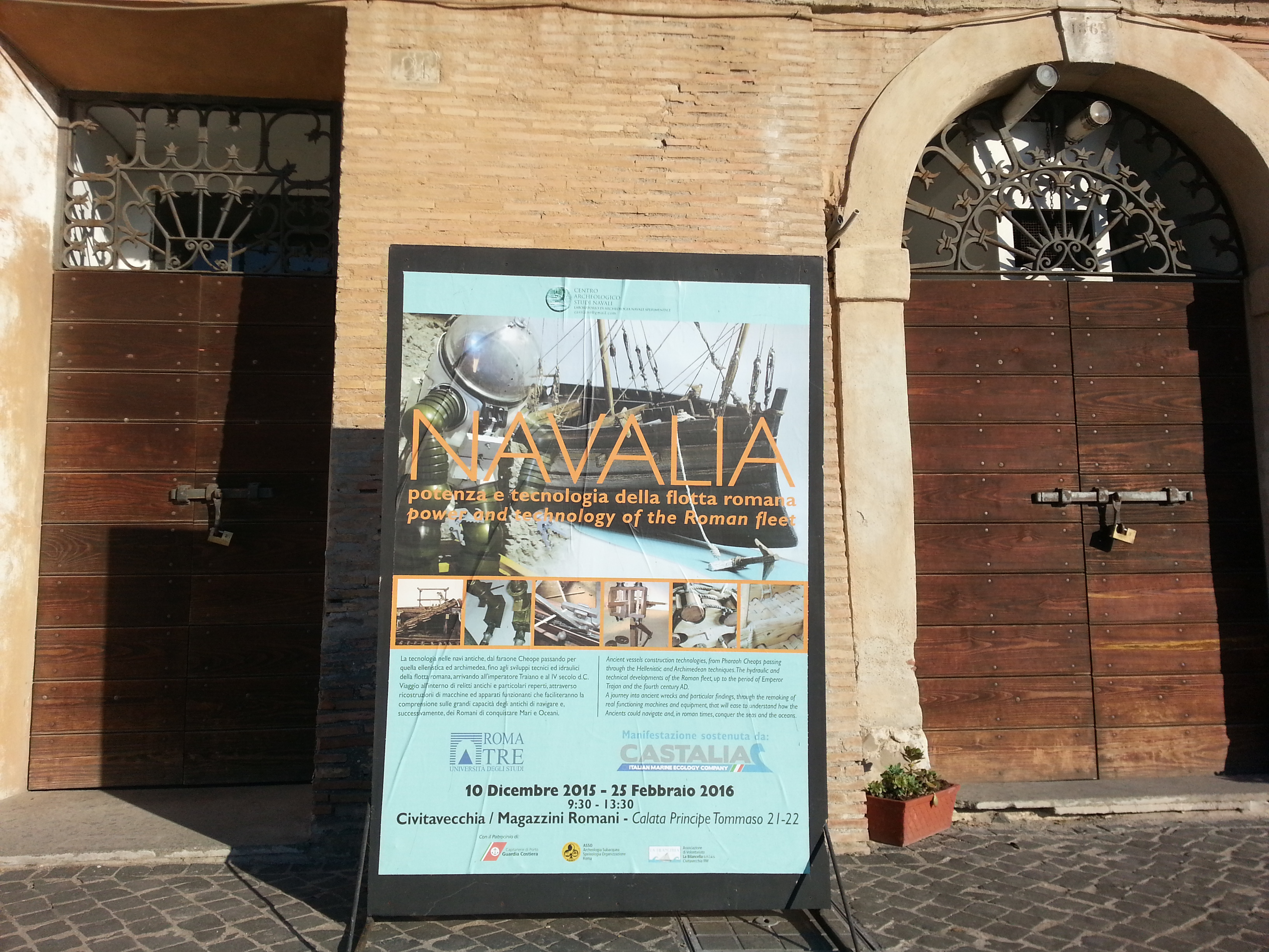 The entrance to Navalia is placed within the Roman Warehouses between Porta Livorno and the Vanvitelli Fountain