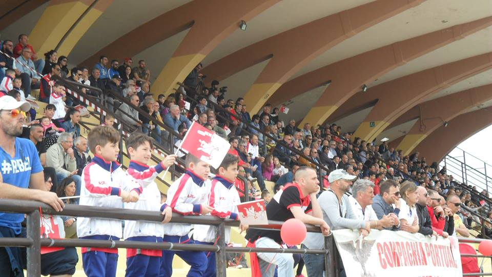 CPC 2005 Supporters at the Fattori Stadium in Civitavecchia