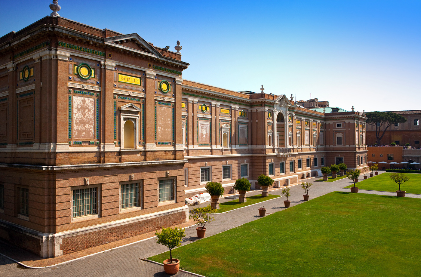 The building containing the Vatican Pinacoteca