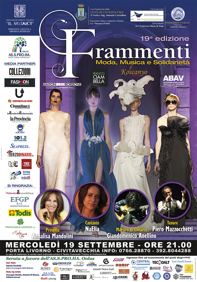 Official poster of the 19th edition of Frammenti by Franco Ciambella
