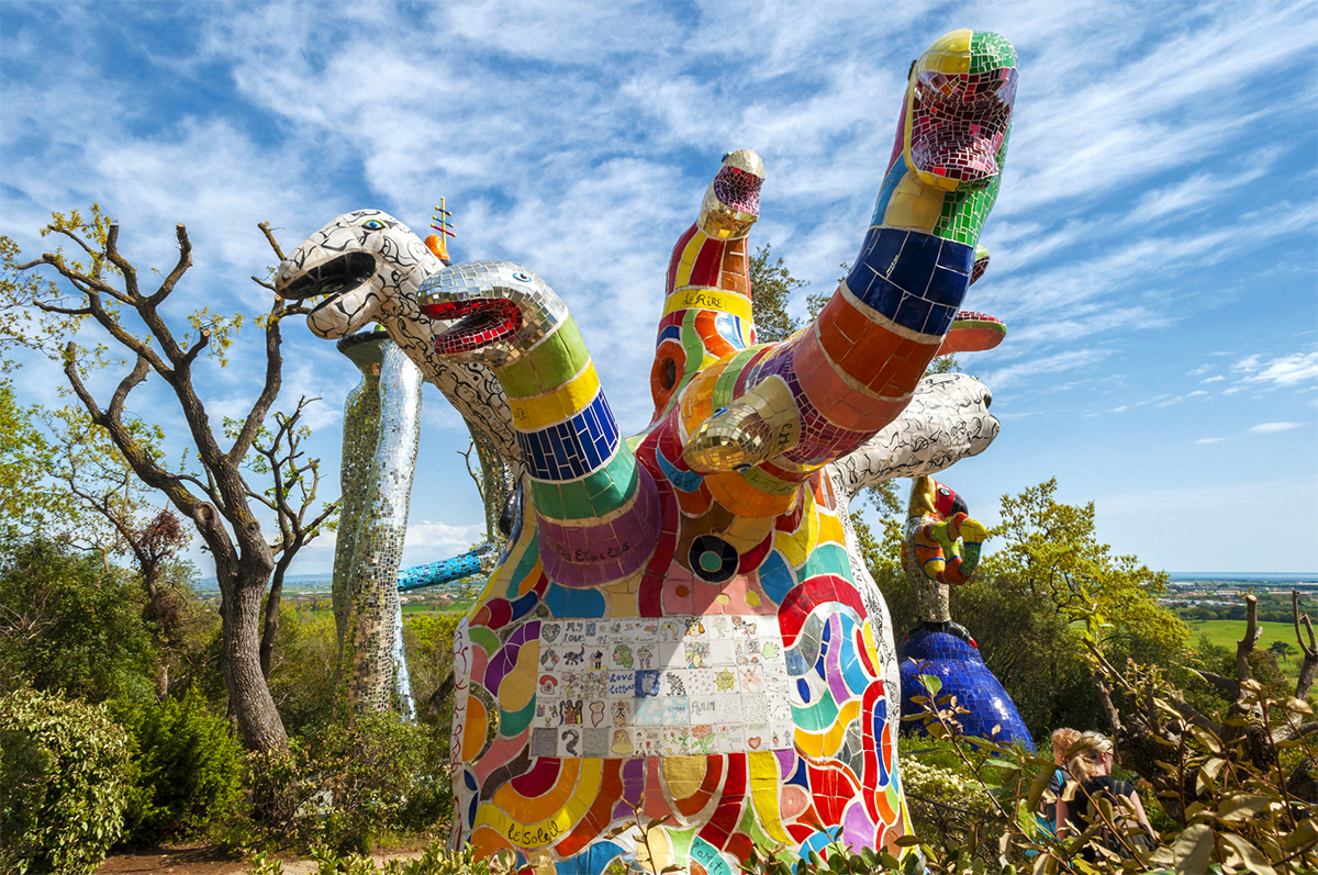 The Tarot Garden Masterpiece By Niki De Saint Phalle Port Mobility Civitavecchia