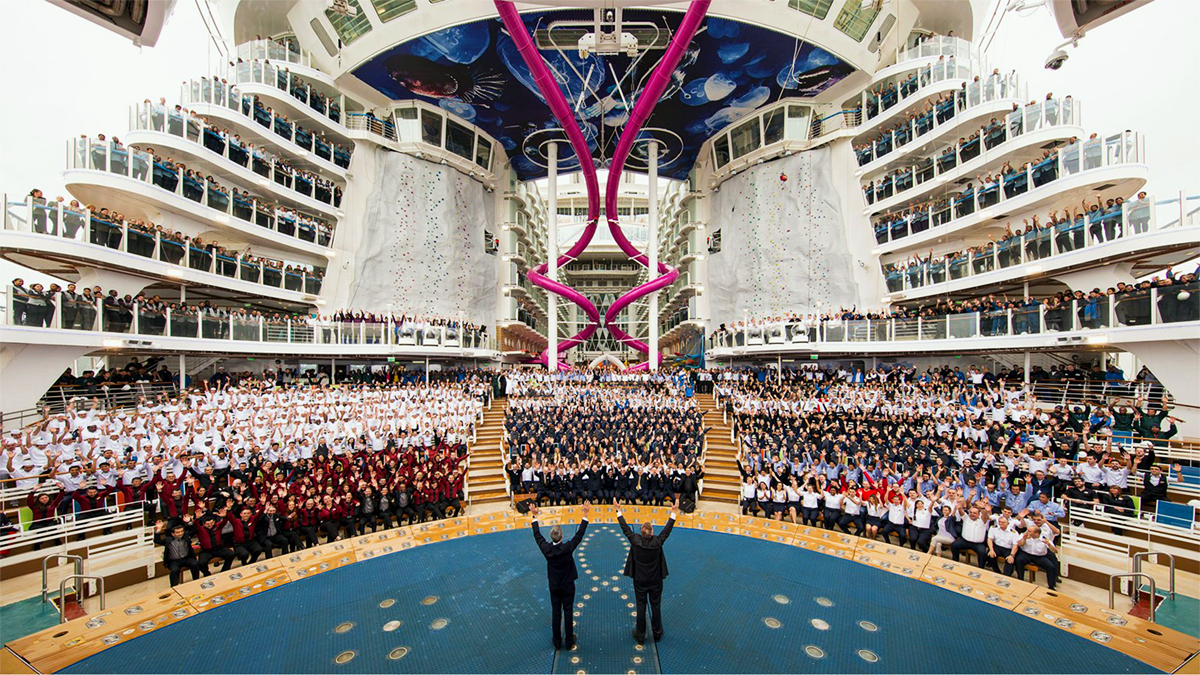 La Harmony of the Seas durante la presentazione