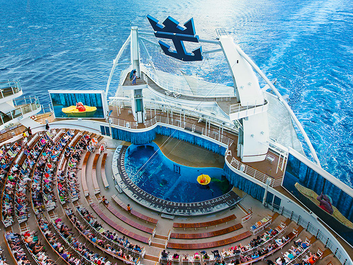 La Harmony of The Seas vista dall'alto