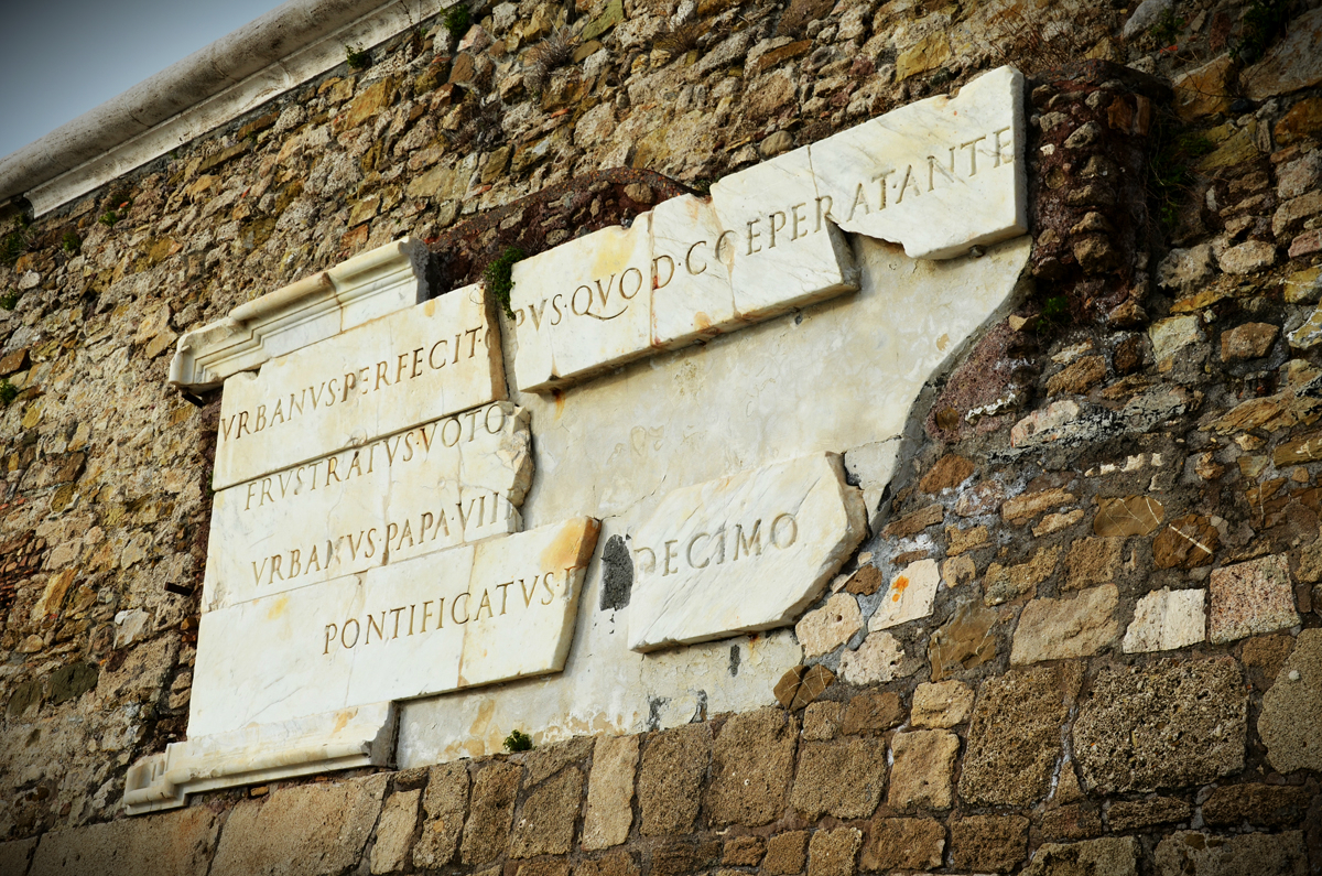 The Rock of Civitavecchia - Papal memorial stone