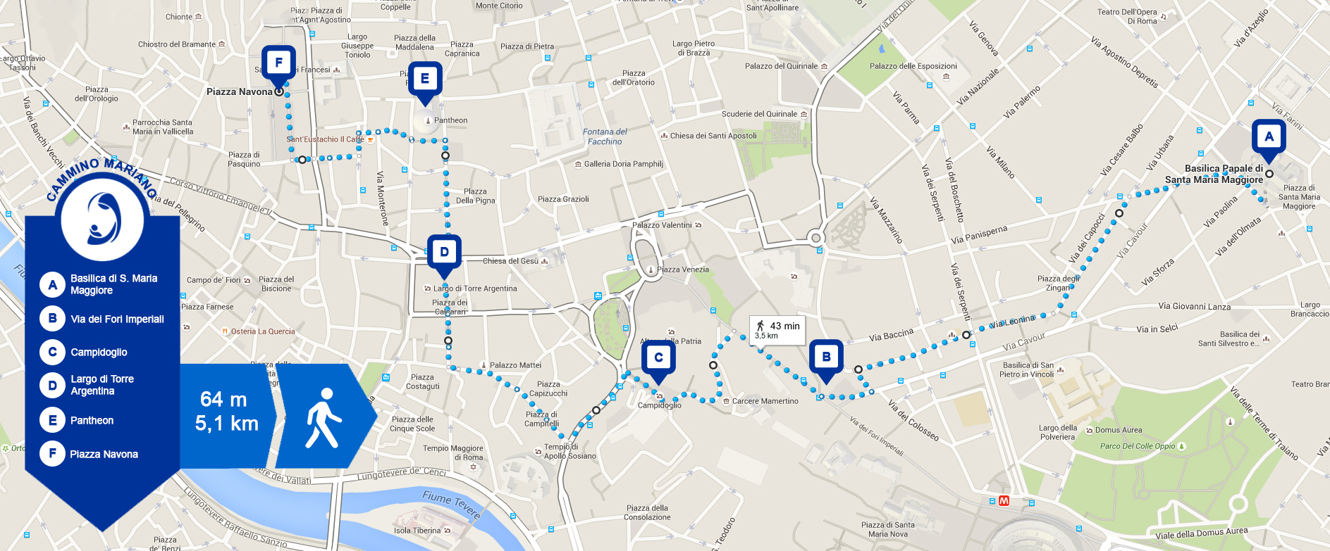 Holy Year 2015: map and main stages of the Marian way