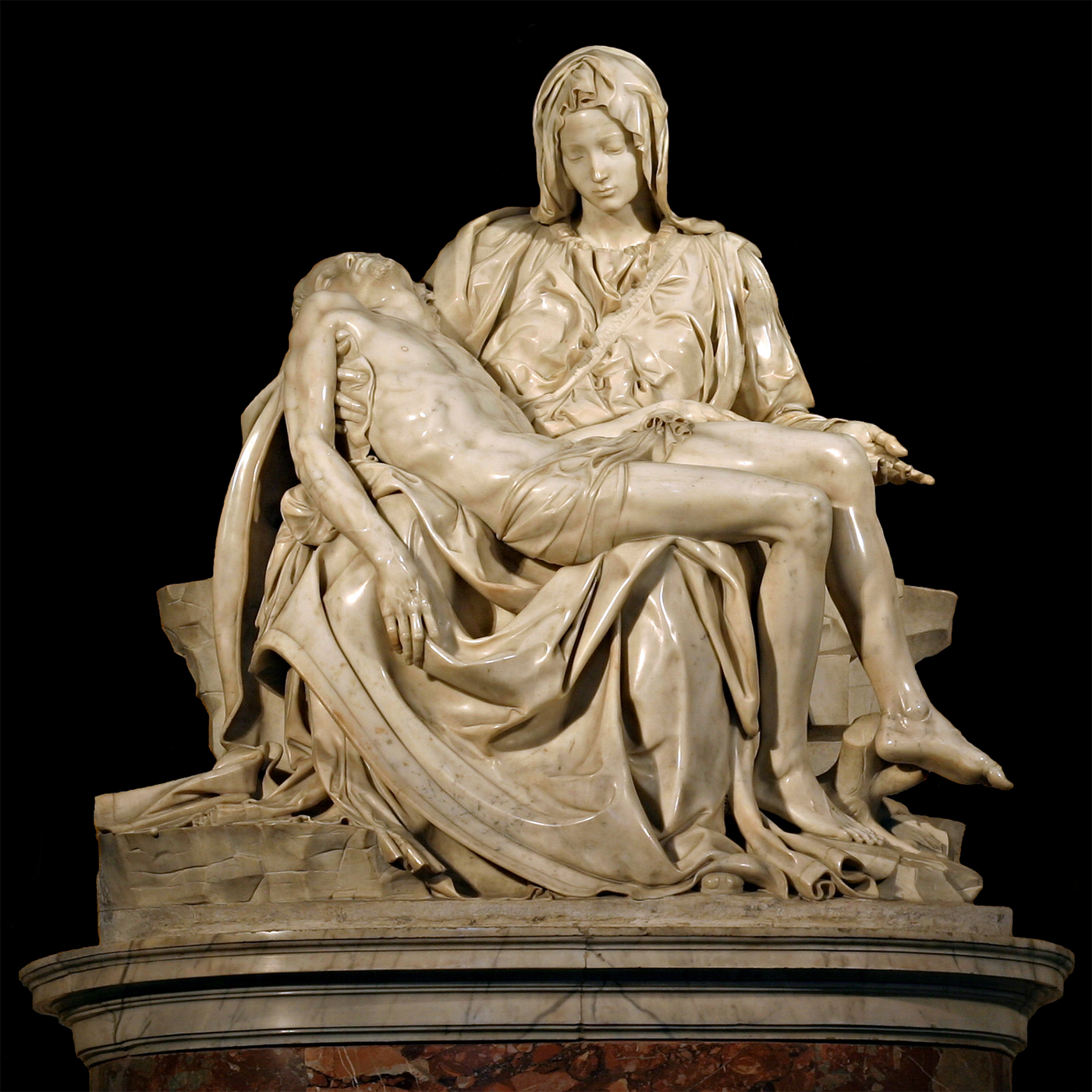 The Pietà by Michelangelo Buonarroti in all its splendour - Wikimedia.org , CC BY 2.5
