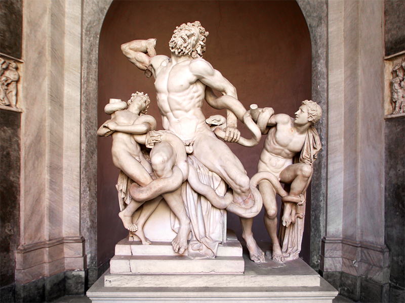 Vatican Museums  - The statue of Laocoön in the Octagon Courtyard