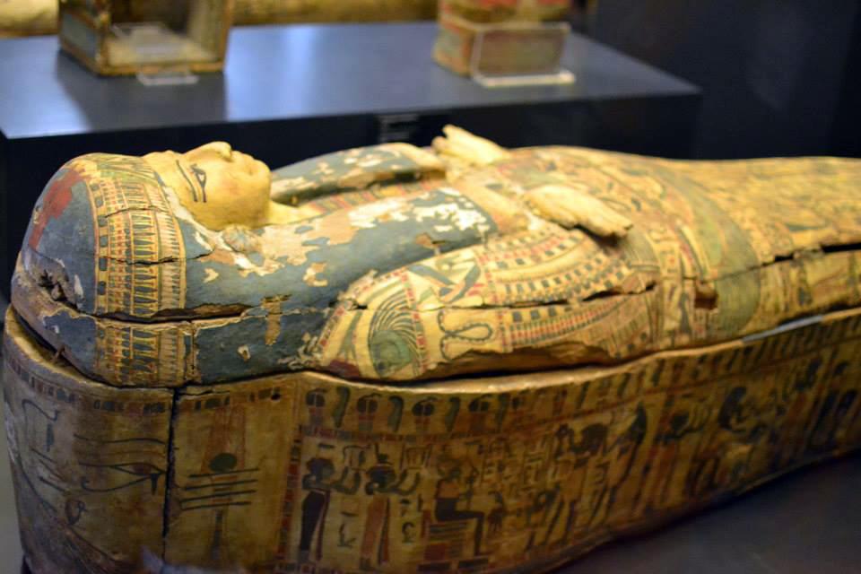 A precious coffin in the Gregorian Egiptian Museum