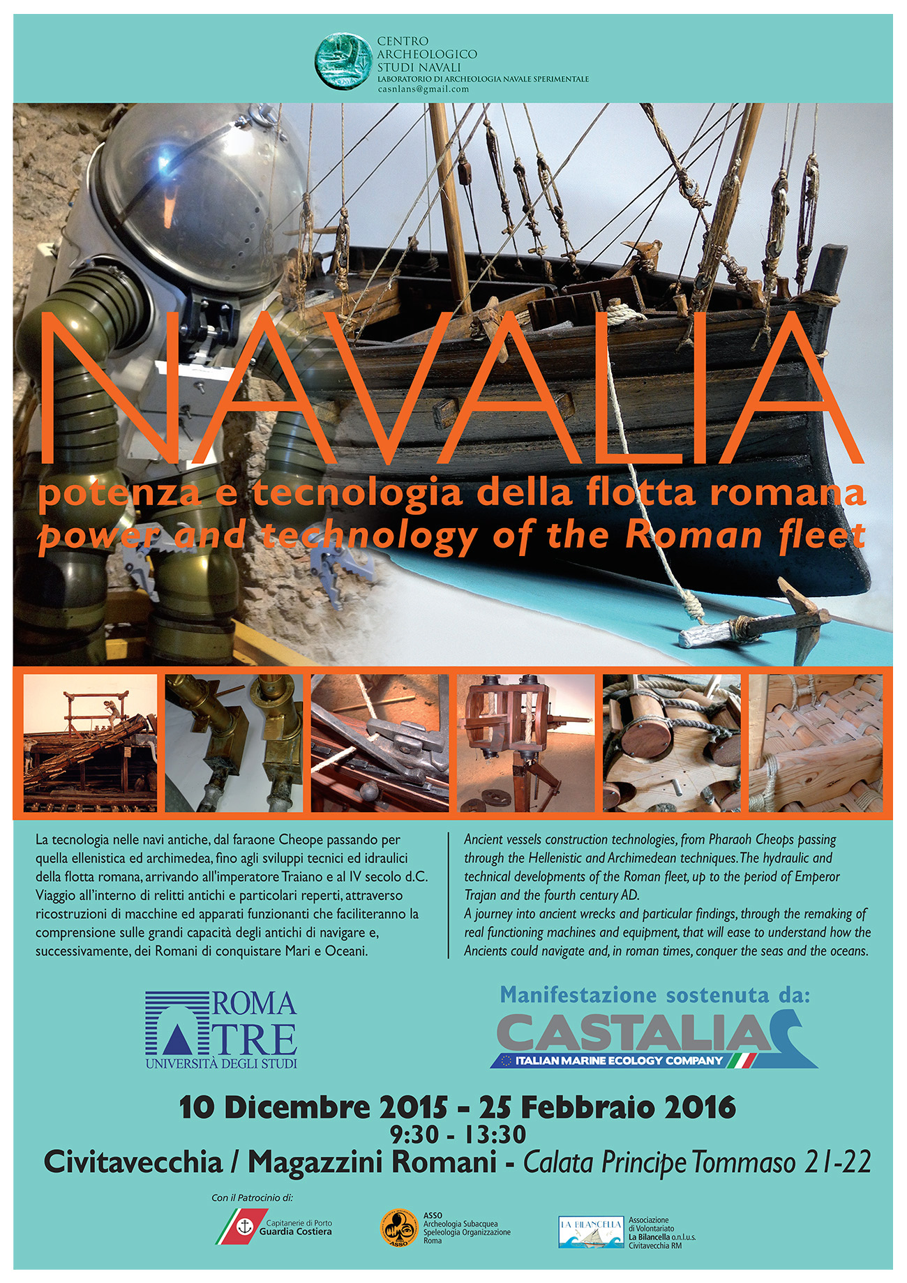 The poster of the reopening of Navalia at the Historic Port of Civitavecchia