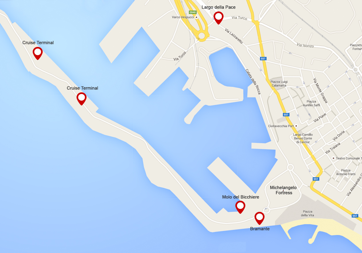 civitavecchia cruise terminal map New Bus Stops For Cruise Passengers At The Port Of Civitavecchia civitavecchia cruise terminal map