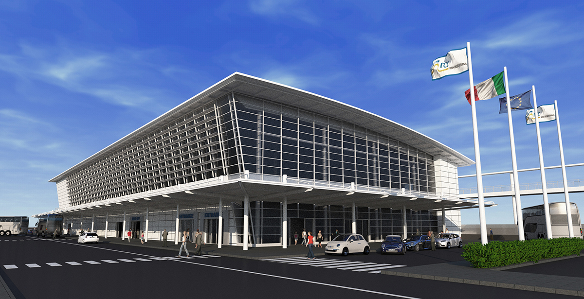 The new terminal will be made for moving streams of 4,500 passengers and 9,000 bags per day.