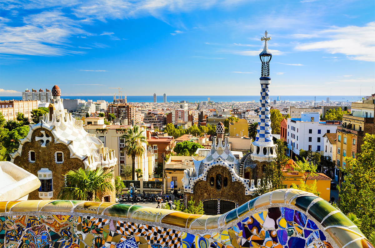 Park Güell in Barcellona, one of the most amazing works by Gaudí