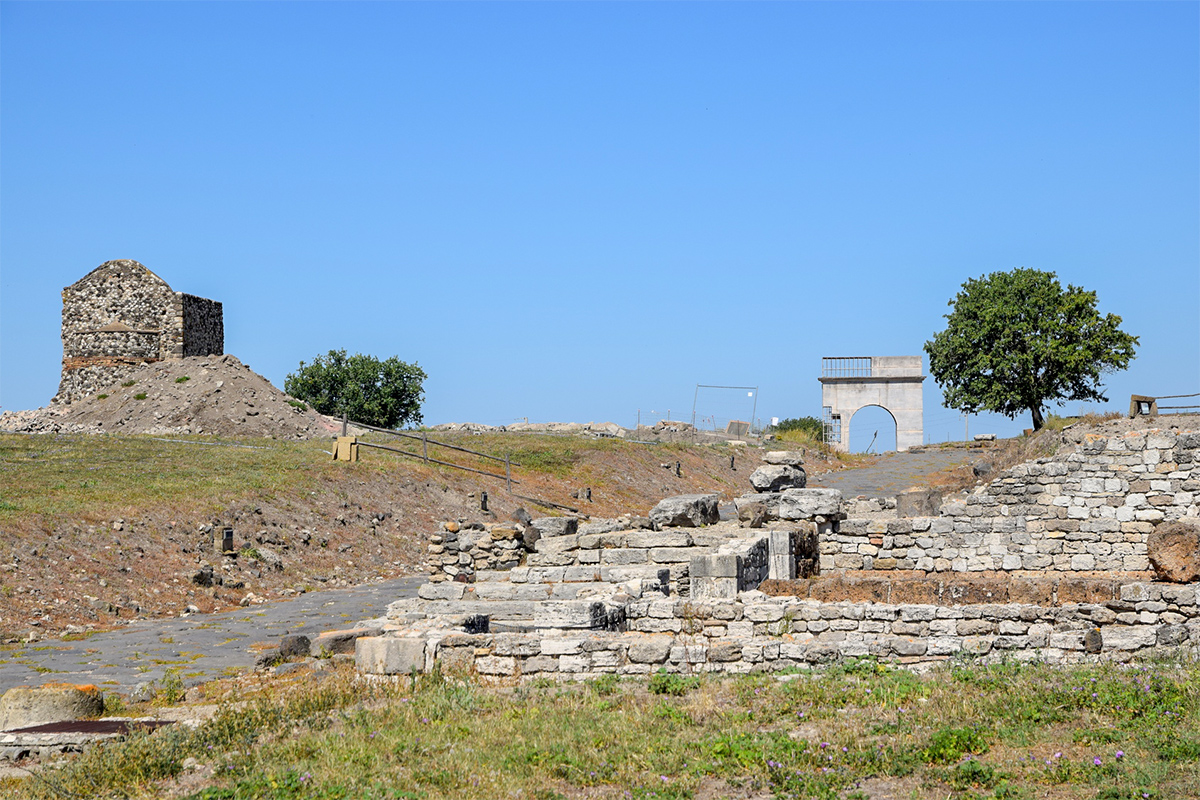 Remains in Vulci Archaeological Park