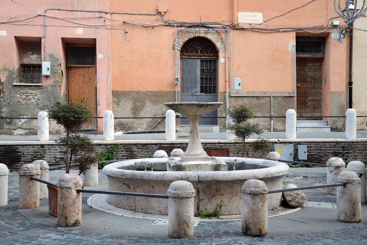 The historic Medieval fountain of Piazza Leandra