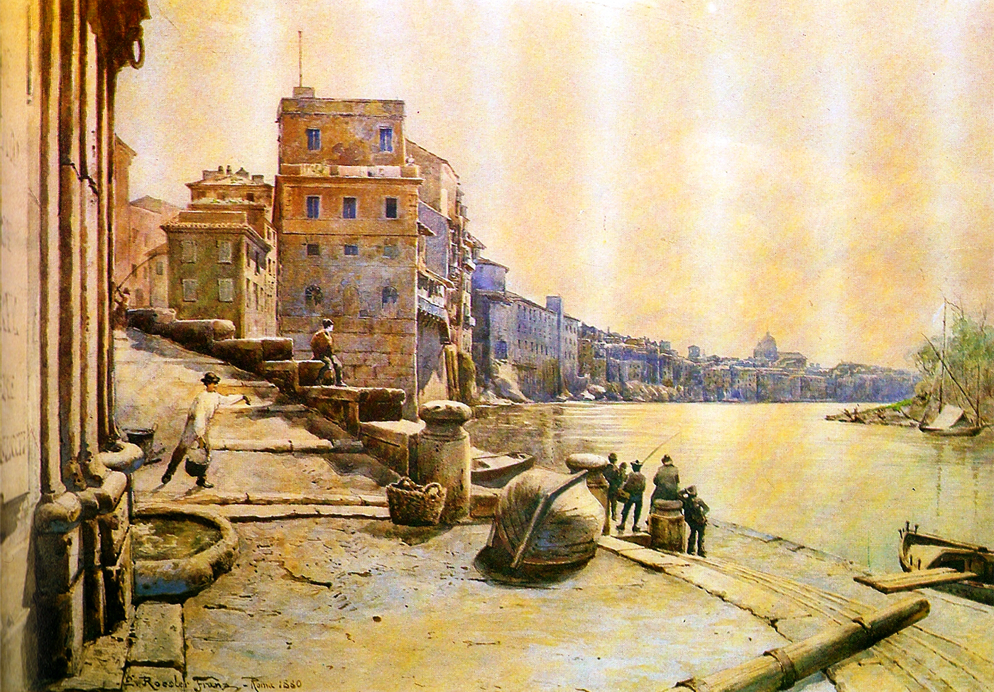The Porto di Ripetta in a suggestive old illustration
