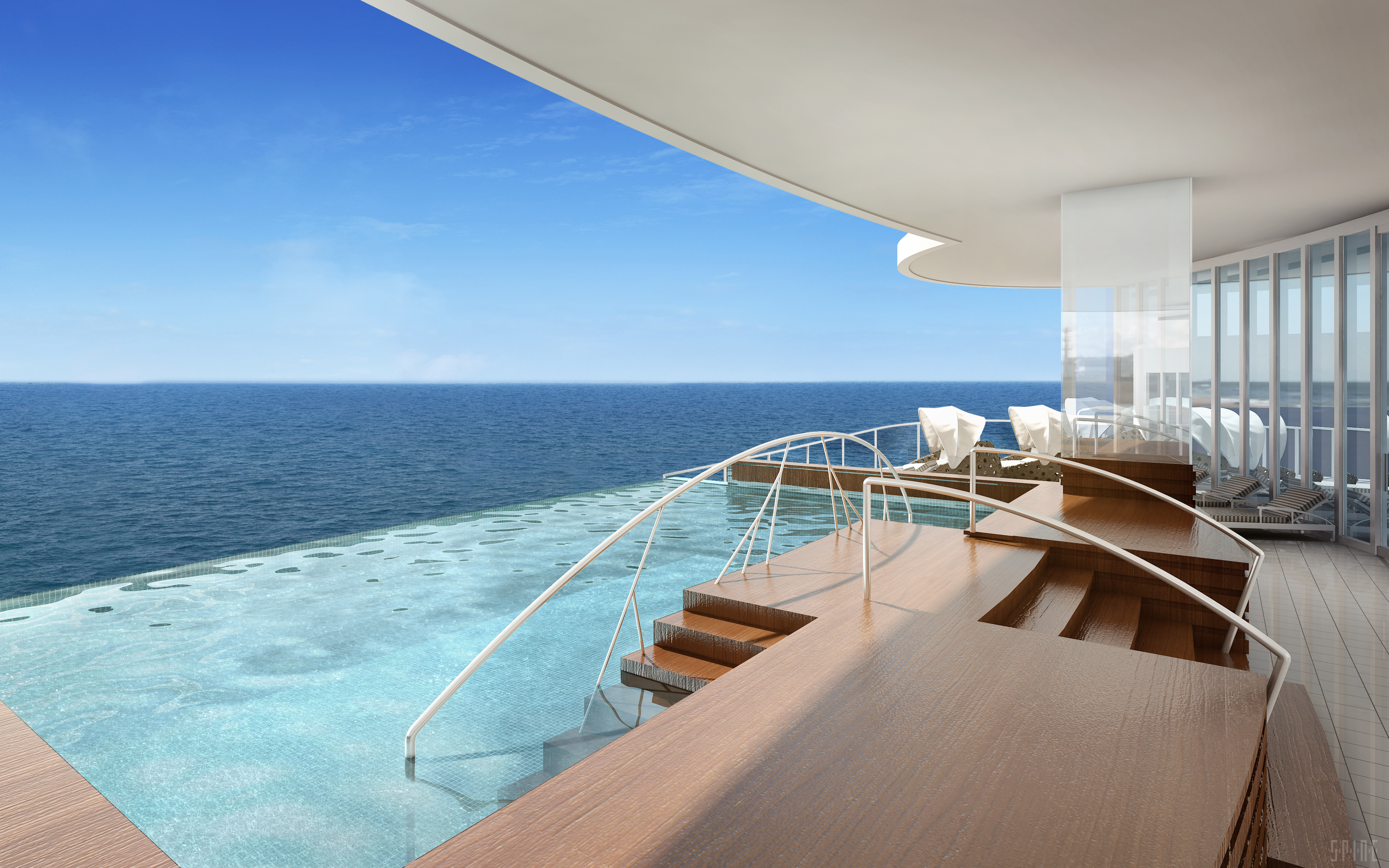 Sea view from the Regent Suite - picture by Norvegian Cruise Line