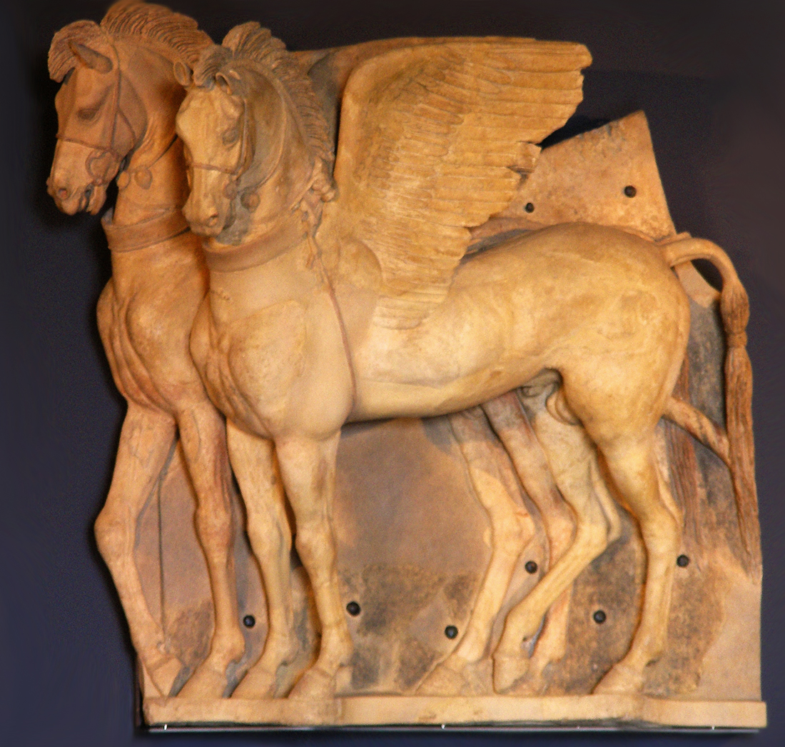 The Winged Horses finally restored