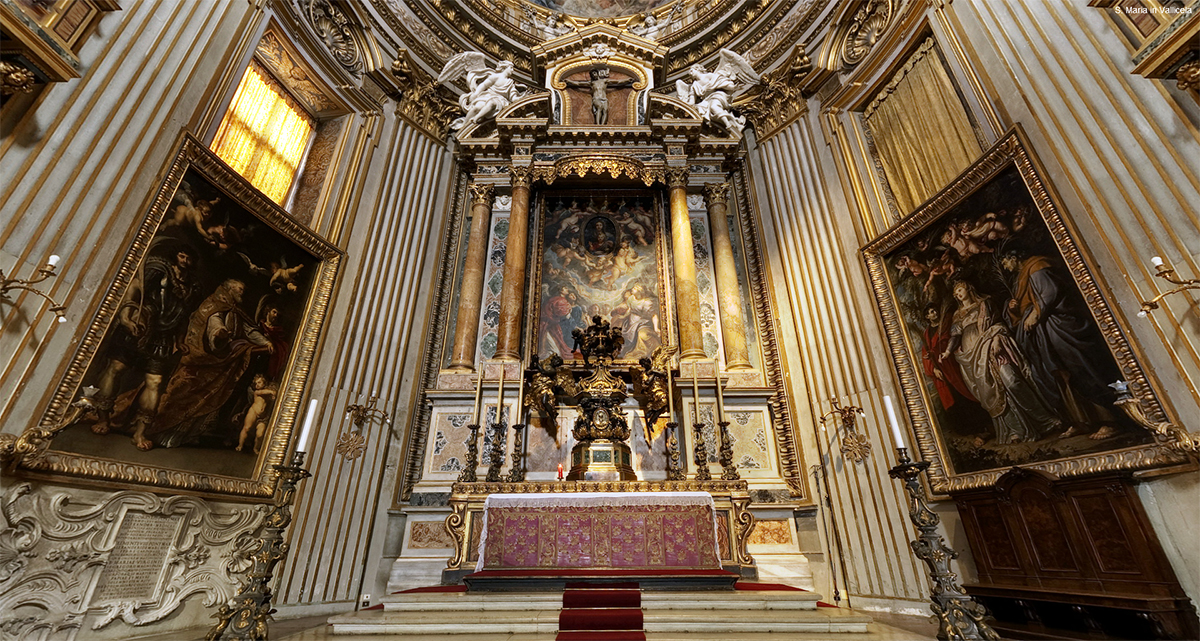 Altar of the New Church with the triptych by Rubens