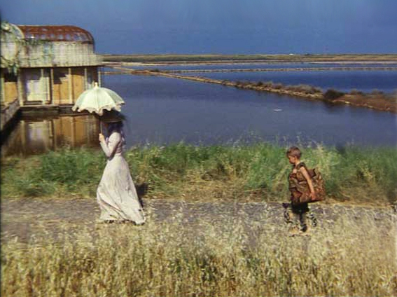 A scene from The Adventures of Pinocchio set in the Saltpans of Tarquinia