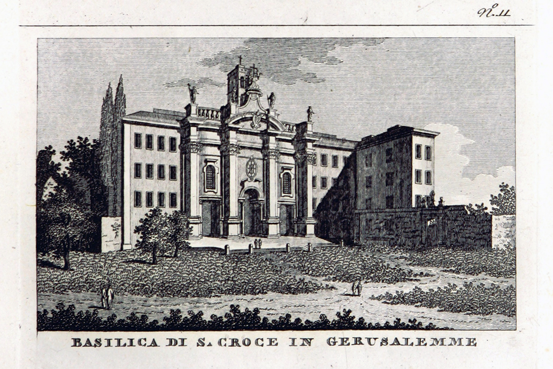 The Basilica of the Holy Cross in Jerusalem in an old illustration