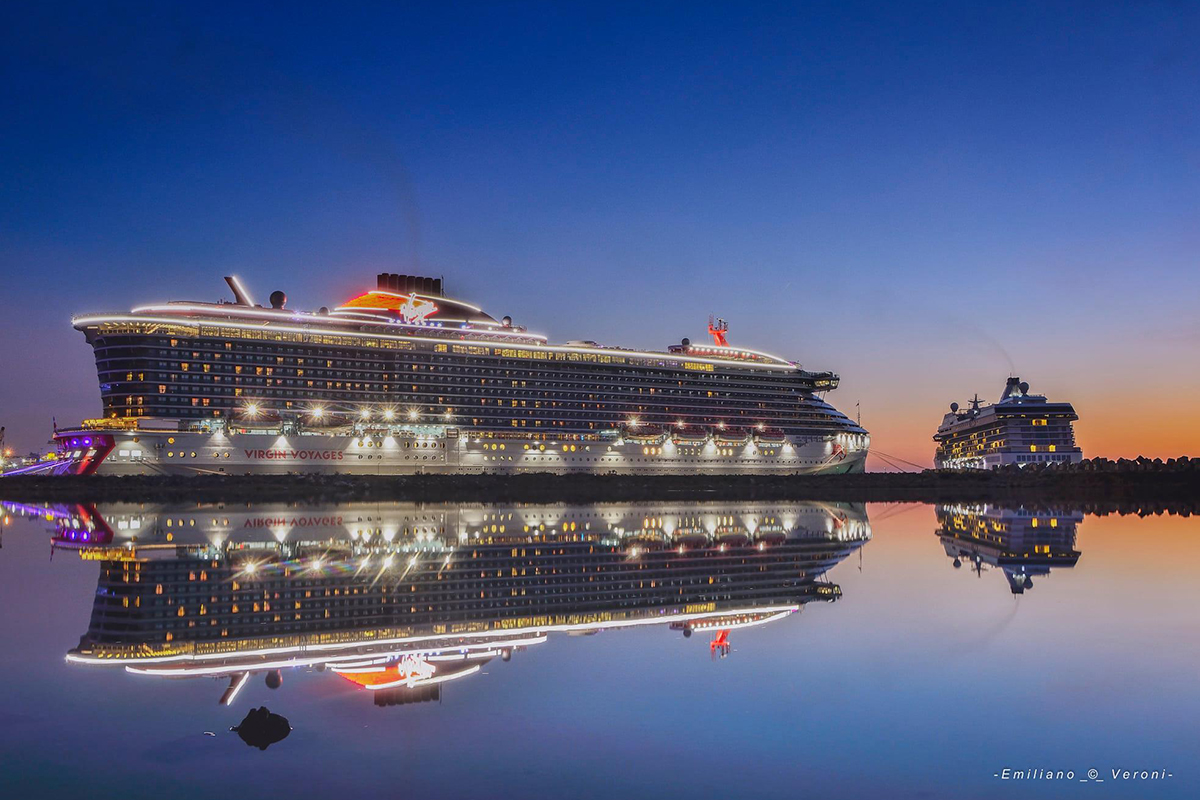A wonderful illuminated view of the Scarlet Lady. Photo by Emiliano Veroni