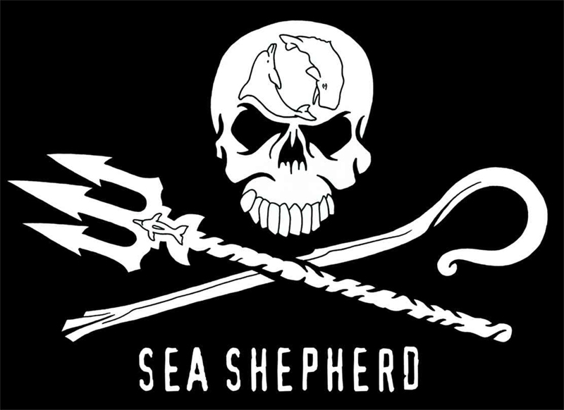 Flag and official logo of Sea Shepherd