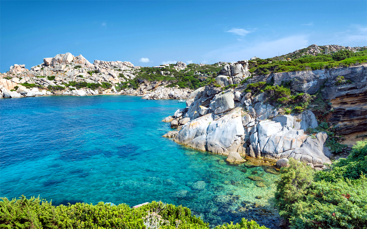 Beach of Cala Grande in Sardinia