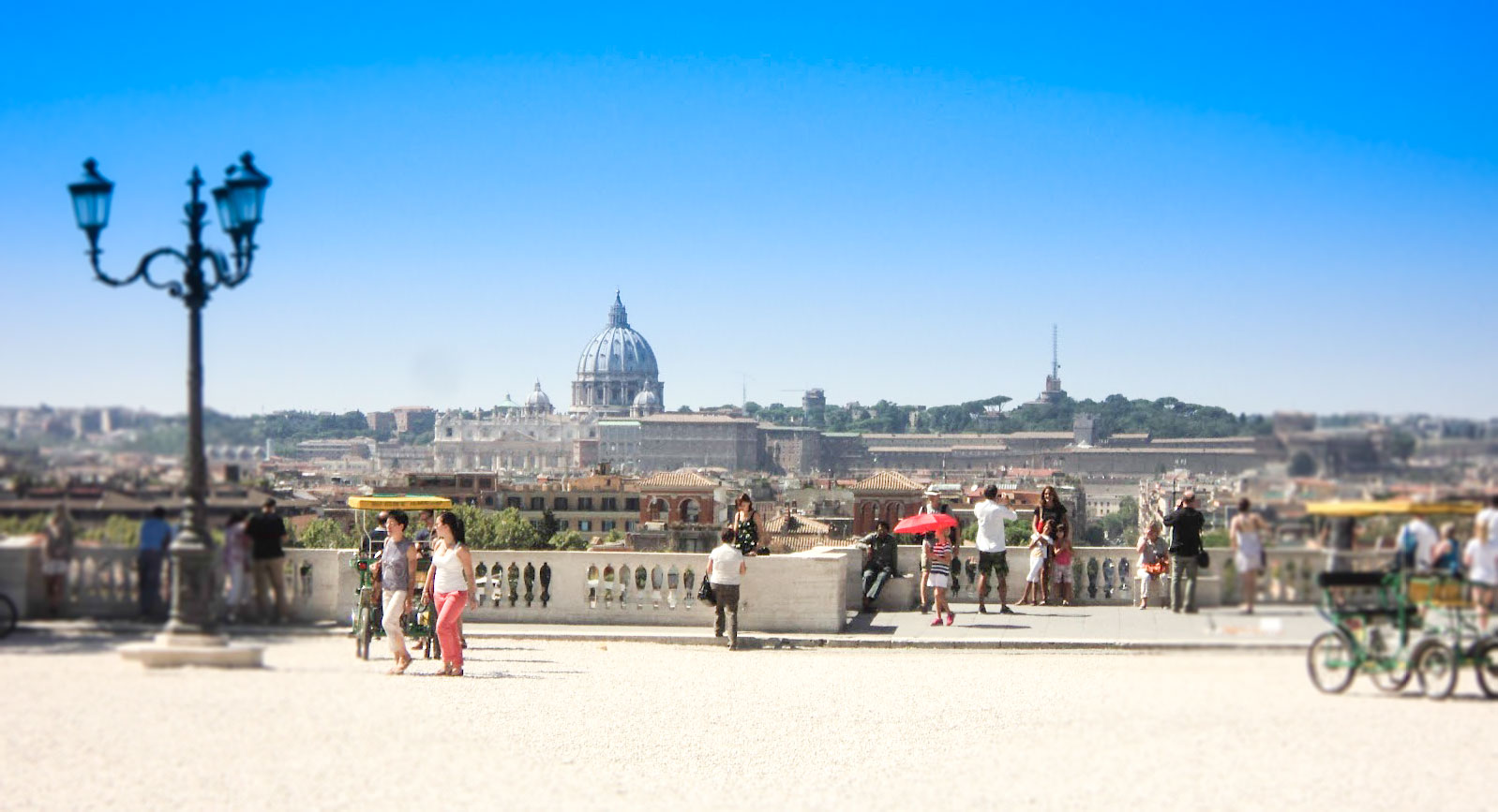 The amazing views of Rome from the Pincian Hill at Villa Borghese