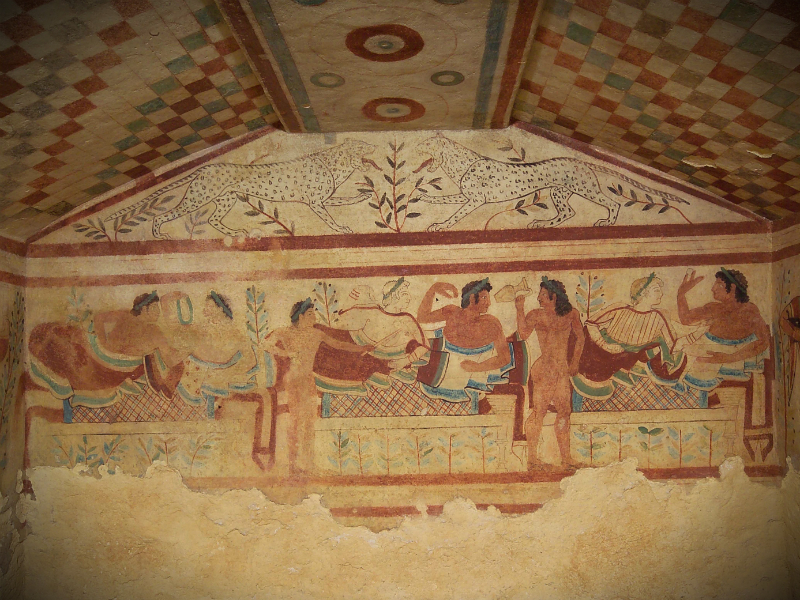 Etruscan Necropolis of Monterozzi - Tomb of the Leopards