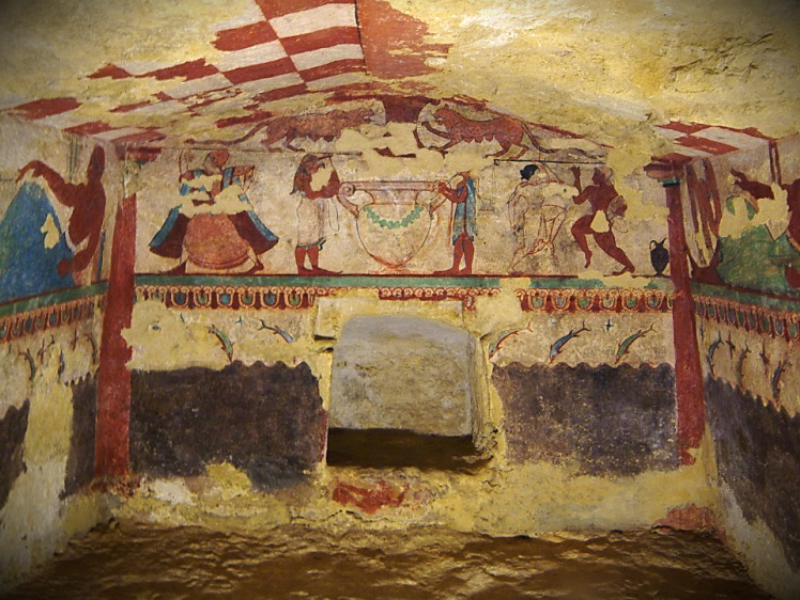 Etruscan Necropolis of Monterozzi - Tomb of the Lionesses