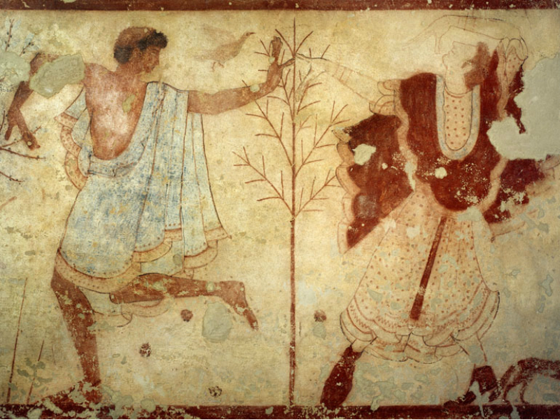 Fresco from the Tomb of the Triclinium