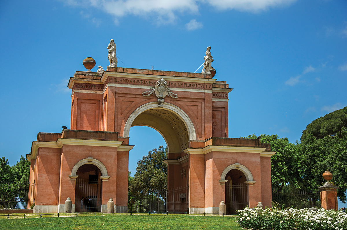 Arch of the Four Winds - Villa Pamphili (Rome)