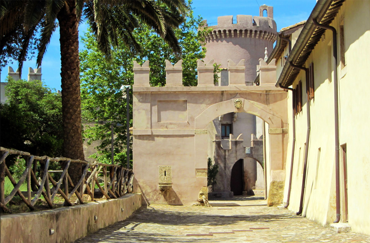 Entrance gate to the Castle of Santa Severa
